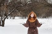 Young woman in winter  — Zdjęcie stockowe