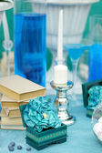 Stylish sweet table on wedding  — Stock Photo