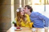 Happy young couplein — Stock Photo