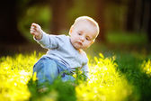 Little baby boy at the summer — Stock Photo