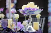 Part of stylish indoor wedding party or date interior  — Stockfoto