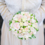 Beautiful wedding flowers bouquet — Stock Photo #68621959