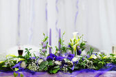 Table set for wedding reception — Stock Photo