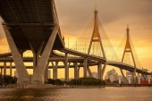 Puente de la crepuscular — Foto de Stock