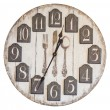 Retro vintage wall clock isolated — Stock Photo #61267901