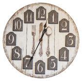 Retro vintage wall clock isolated — Stock Photo
