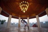 Loving asian couple indoor — Stock Photo