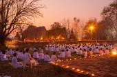 AYUTTHAYA THAILAND-March. 4: Makha Bucha Day.Traditional buddhis — Stock Photo