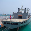 Old military ship — Stock Photo #71675621