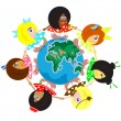 Multicultural Children Around The Earth — Stock Photo #53297025