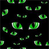 Cat green eye seamless texture — Wektor stockowy