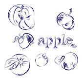 Apple Doodle — Stock Vector