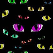 Cat Eye Seamless Texture — Stock Vector
