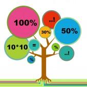 Infographic tree — Stock Vector