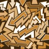 Graffiti Arrows Seamless Background — Stock Vector