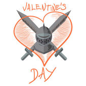 Valentine knight — Stock Vector