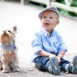 Little boy with dog — Stock Photo #52584713