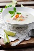 Finnish salmon soup — Stock Photo