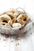 Bagels with sesame — Stock Photo
