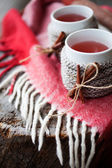 Mulled wine in mugs — Stock fotografie