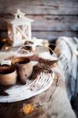 Finnish wooden cups — Stock Photo