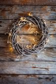 Wreath with bright lights — Stock Photo