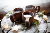 Warm Mulled wine — Stock Photo