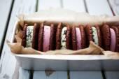 Ice cream sandwiches — Stock Photo