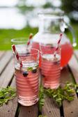 Berry lemonade in glasses — Stock Photo