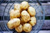Fresh uncooked potatoes — Stock Photo