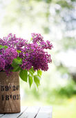 Lilac flowers  in vase — Stock Photo