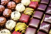 Variety of gourmet truffles — Stock Photo