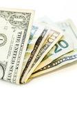 Gevouwen contant geld — Stockfoto