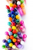 Multicolored crayons — Stock Photo