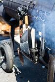 Barbecue smoker — Stock Photo