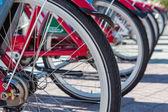 Rental bikes — Stock Photo