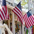 American flags at Main street — Stock Photo #52707925