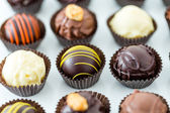 Chocolate truffles — Stock Photo