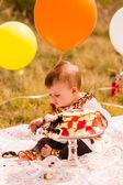 Baby girl  Birthday party — Stock Photo