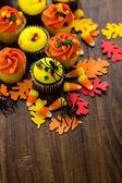 Yellow and orange Cupcakes — Stock Photo