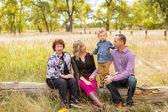 Lovely family enjoying weekend — Stock Photo
