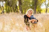 Família. Mãe e filho — Fotografia Stock