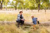 Family. Grandmother and child — Stock Photo