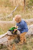 Cute toddler enjoying weekend — Stock Photo