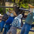 Handmade scarecrows — Stock Photo #54954989