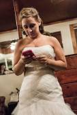 Bride wating in her room — Stock Photo