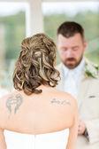 Outdoor wedding ceremony — Stock Photo