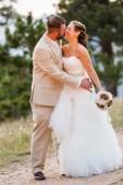 Piccolo matrimonio all'aperto — Foto Stock