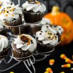 Chocolate Halloween cupcakes — Stock Photo #55213281