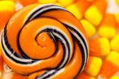 Handmade twist lollipop — Stock Photo